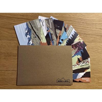 10 postkaarten van diverse Berg in Box modellen